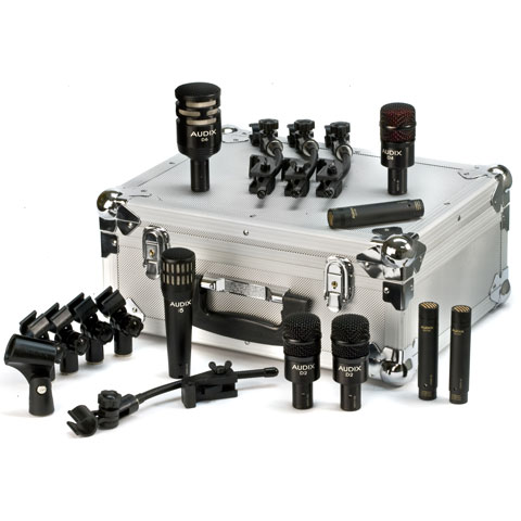 Audix Elite 8 Deluxe D-series 9 mic drum package with road case