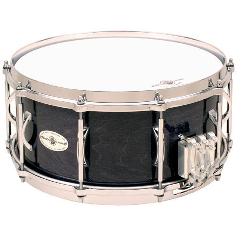 "Black Swamp 10"" (Deep) x 14"" (Diameter) Maple Field Drum with Die-Cast Hoops and Duo Strainer"