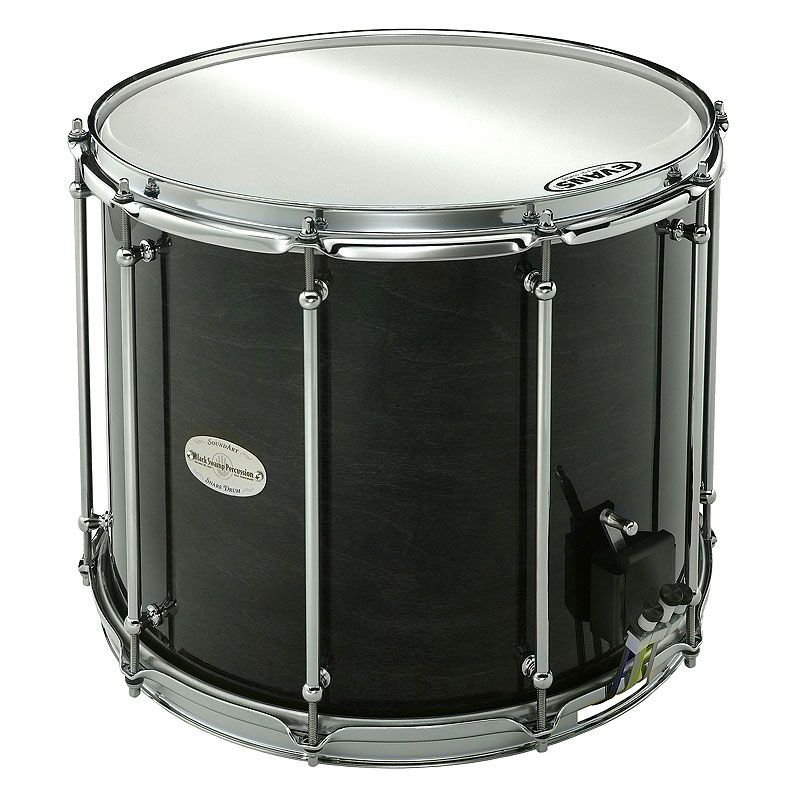 "Black Swamp 12"" (Deep) x 15"" (Diameter) Maple Field Drum with 2.3mm Steel Hoops and Trio Strainer"
