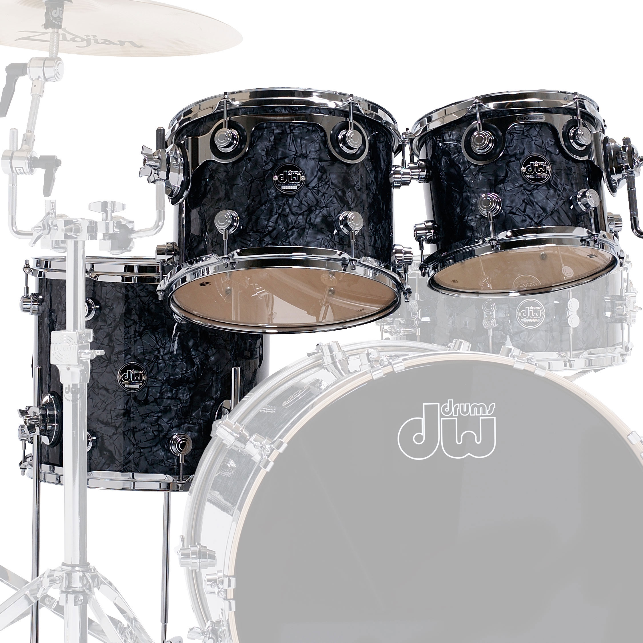 "DW Performance Series 3-Piece Tom Shell Pack (10/12"" Mounted, 14"" Floor)"