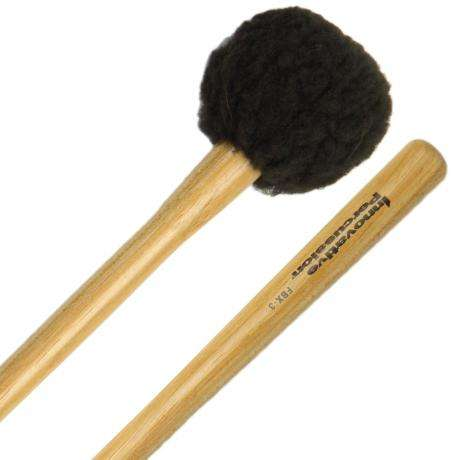Innovative Percussion FBX-3S Field Series Tapered Handle Soft Marching Bass Drum Mallets