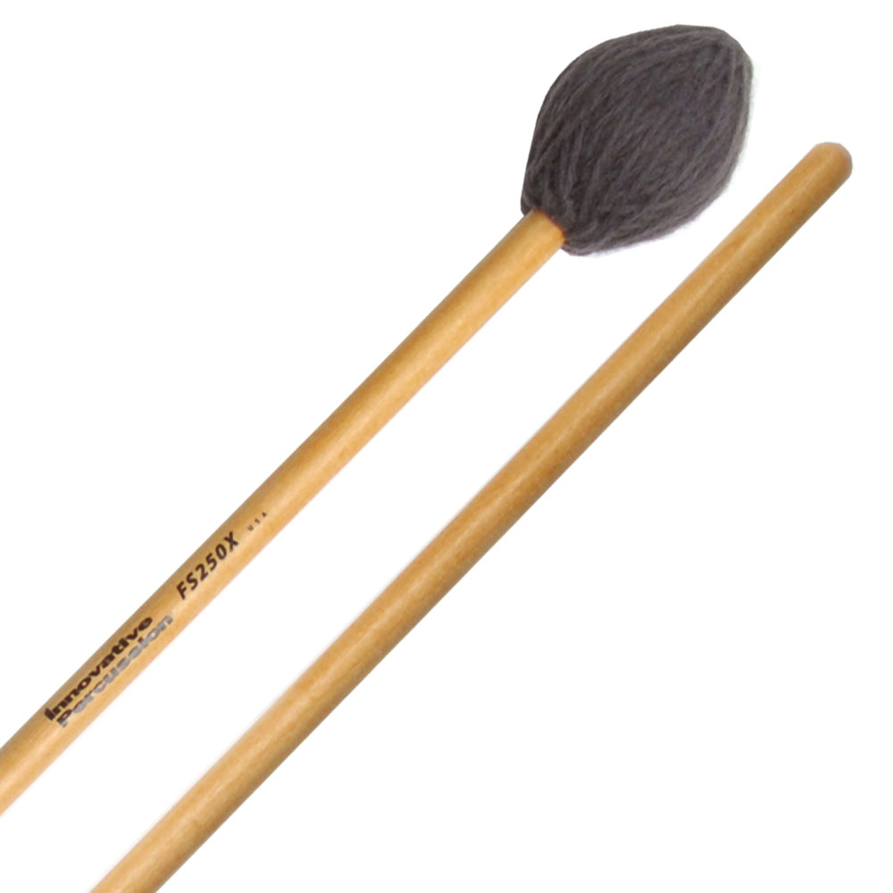 Innovative Percussion FS250X Field Series Extra Heavy Hard Marimba Mallets with Birch Shafts