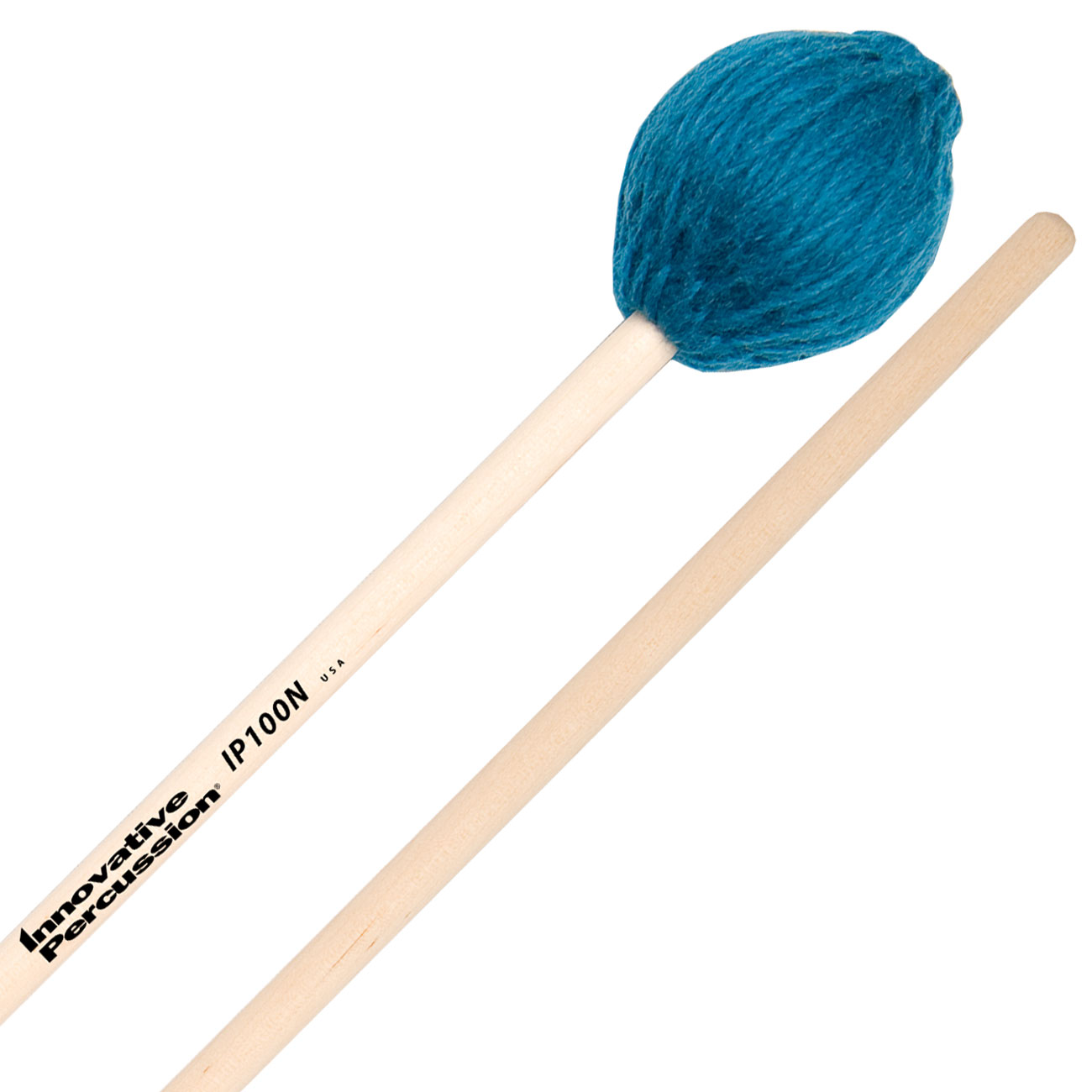 Innovative Percussion IP100N Soloist Series Soft Marimba Mallets with Natural Birch Shafts