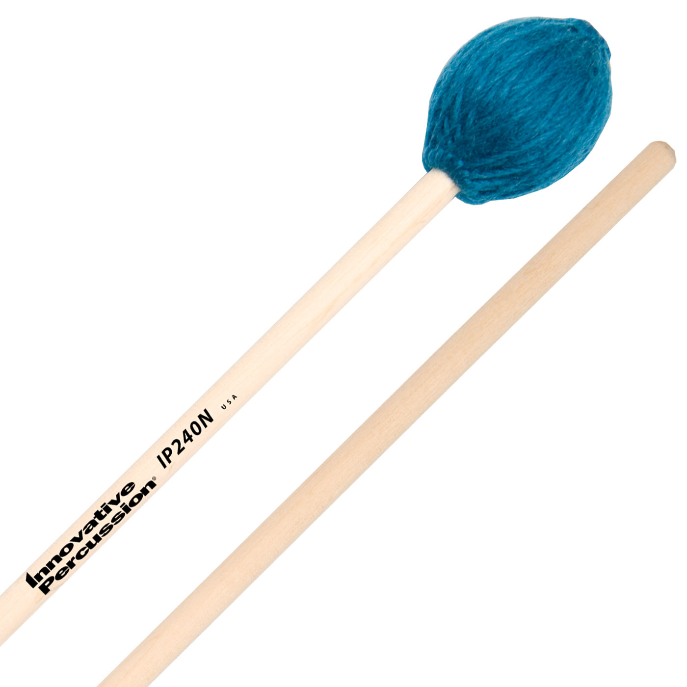 Innovative Percussion IP240N Soloist Series Medium Marimba Mallets with Natural Birch Shafts