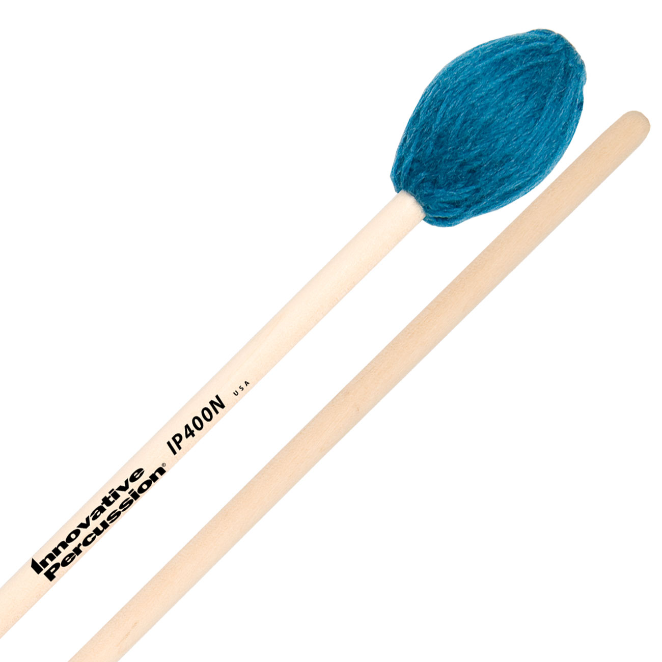 Innovative Percussion IP400N Soloist Series Hard Marimba Mallets with Natural Birch Shafts