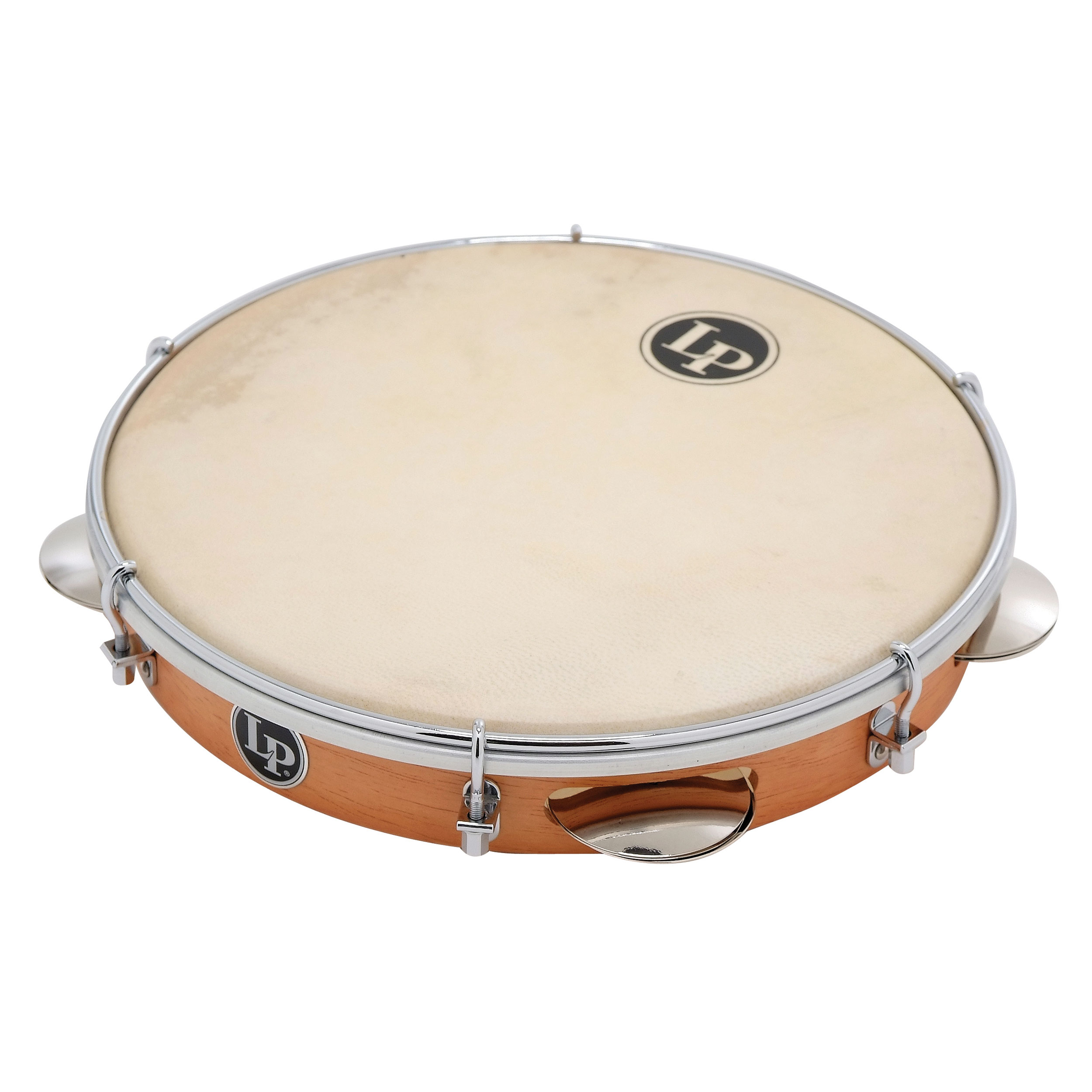 "LP 10"" Wood Pandeiro, Natural Head With Bag"