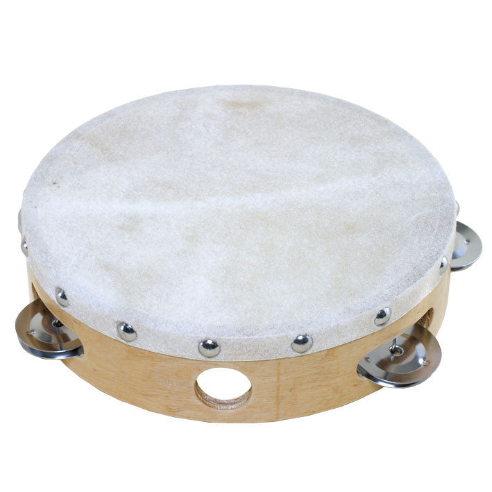 "Ludwig 8"" Single Row Steel Tambourine (Natural Head)"