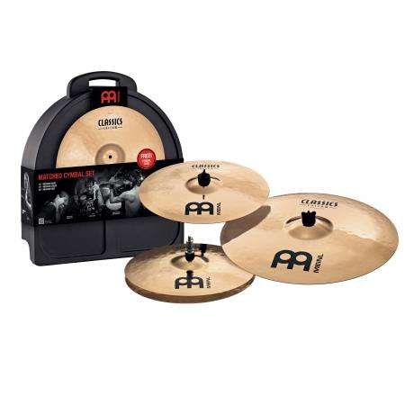 Meinl Classics Custom 4-Piece Cymbal Box Set (Hi Hats, Crash, Ride, FREE Crash)