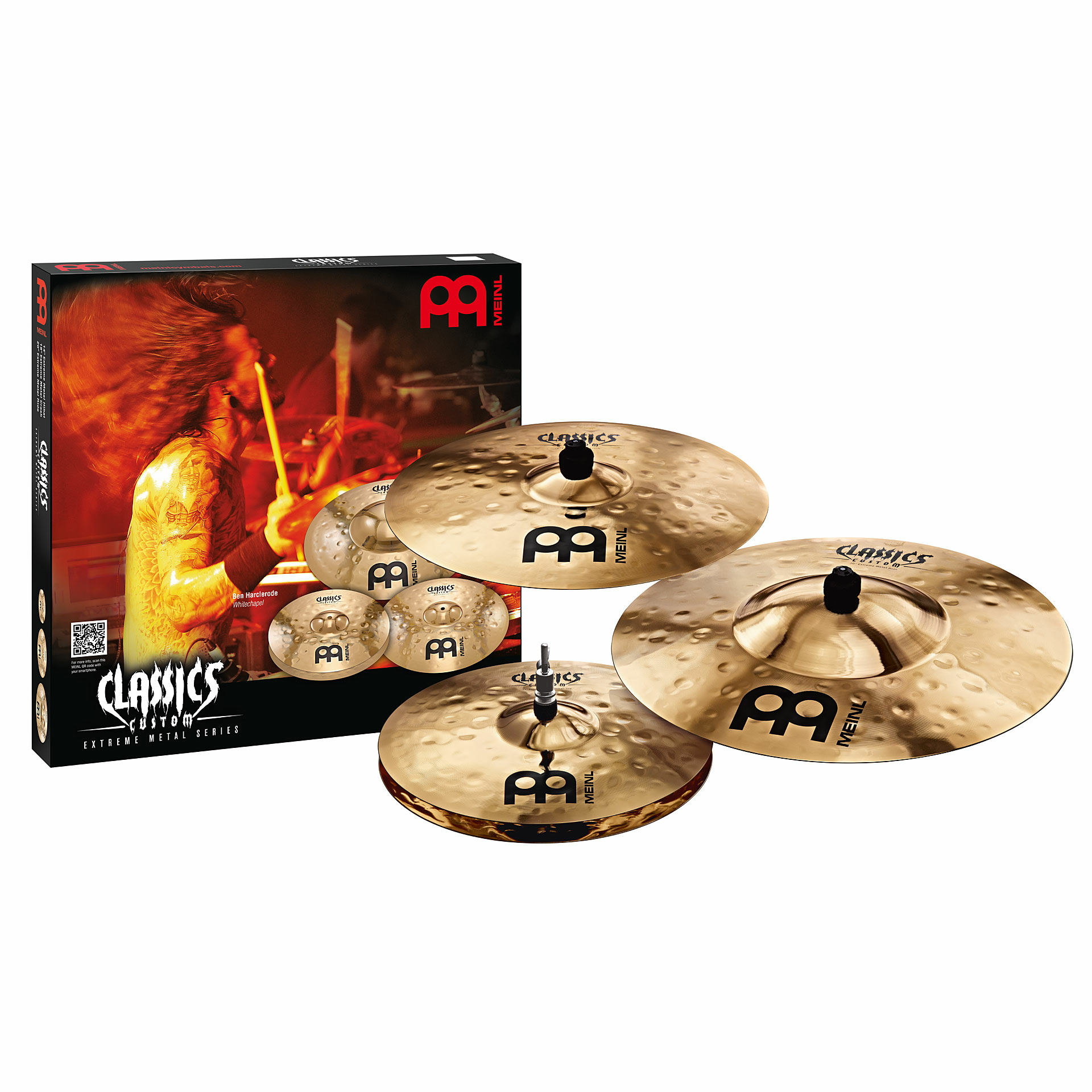 Meinl Classics Custom Extreme Metal 3-Piece Cymbal Box Set (Hi Hats, Crash, Ride)