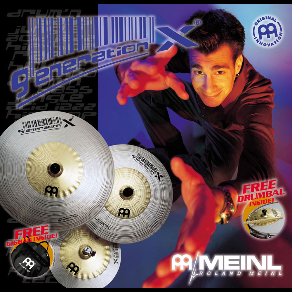 Meinl Generation X Johnny Rabb 4-Piece Cymbal Box Set (Hi Hats, Crash, Ride, FREE Effect)