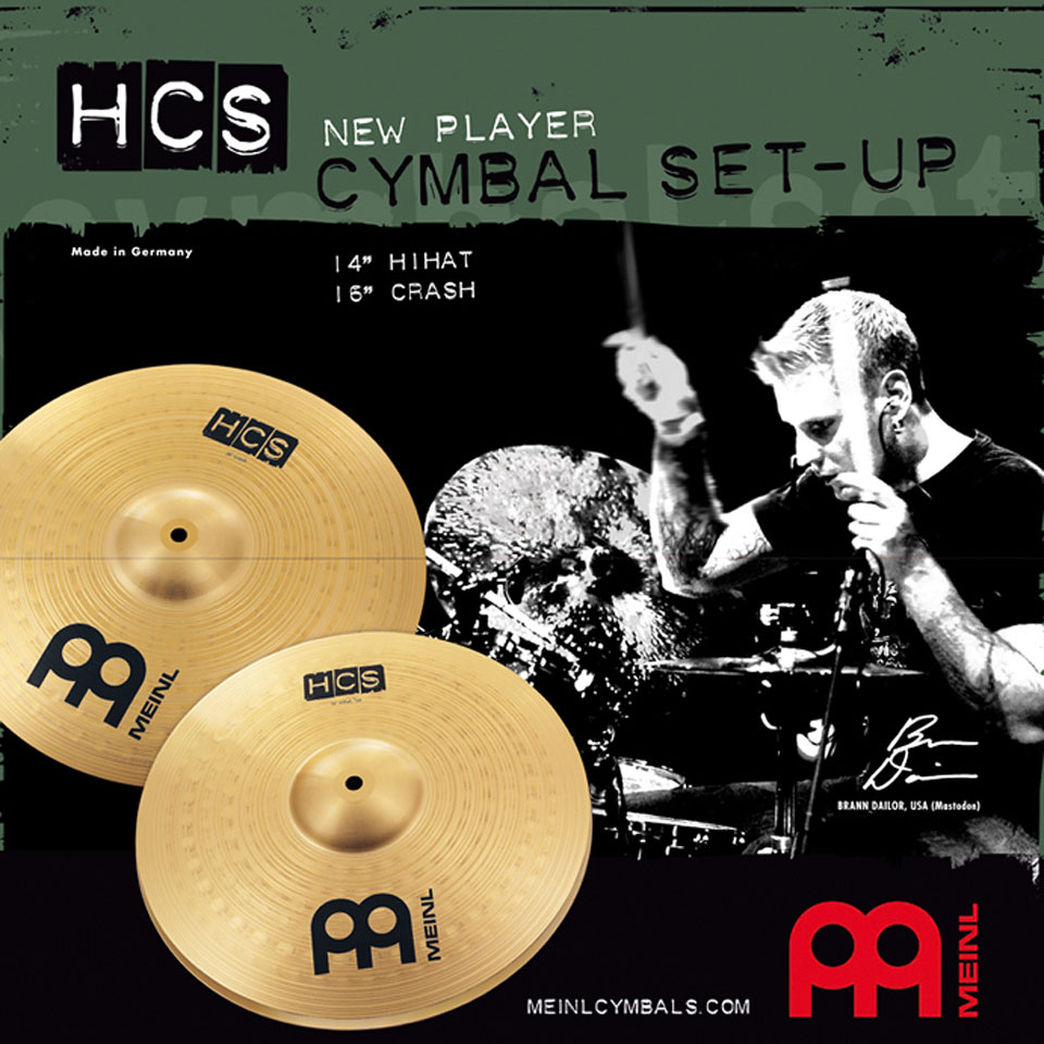 "Meinl HCS 2-Piece Cymbal Box Set (Hi Hats, 16"" Crash)"