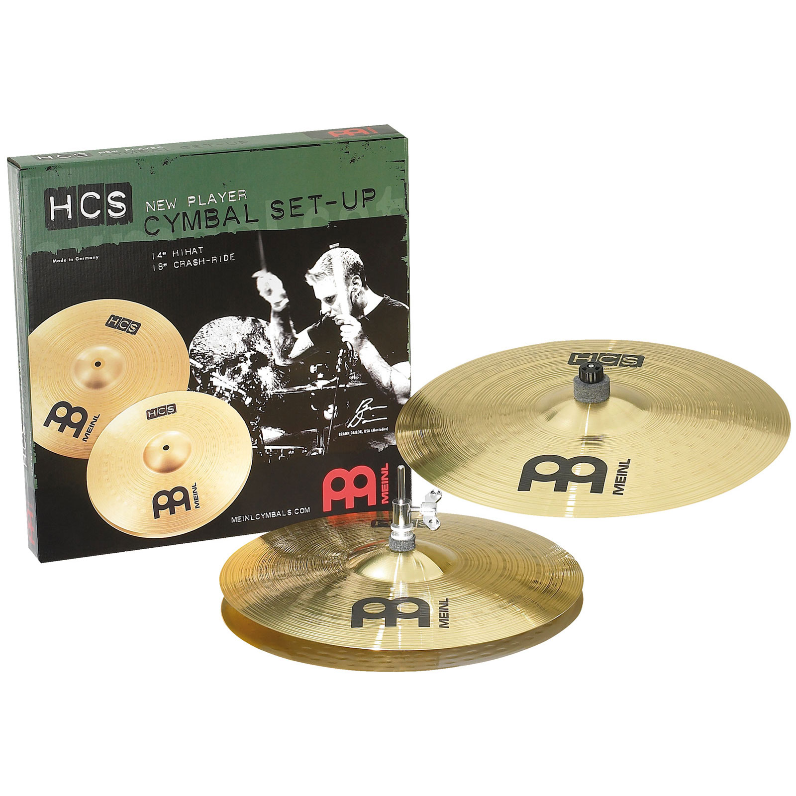 "Meinl HCS 2-Piece Cymbal Box Set (Hi Hats, 18"" Crash)"