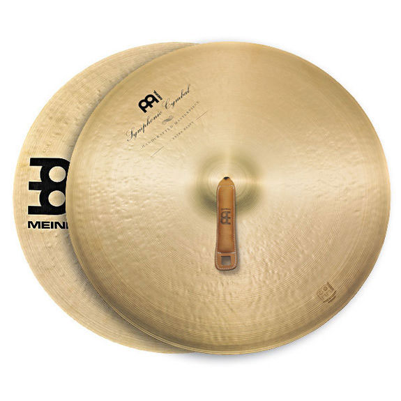 "Meinl 22"" Extra Heavy Symphonic Crash Cymbals Pair"