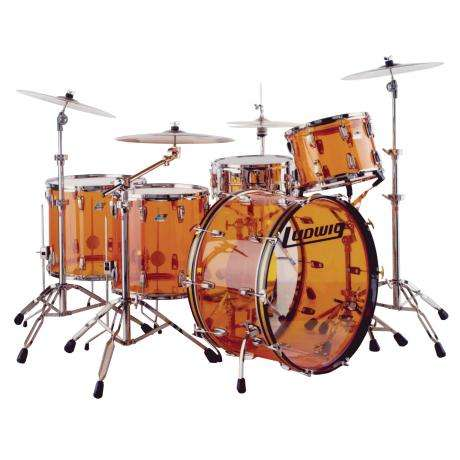 Ludwig Vistalite Zep Set 5-Piece Drum Set Shell Pack (26