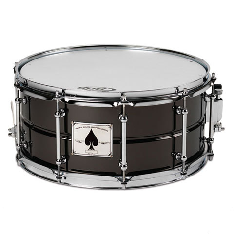 "PDP 6.5"" x 14"" SX Ace Black Nickel over Brass Snare Drum"