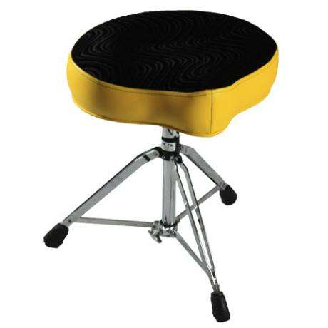 Pork Pie Big Boy Yellow/Black Swirl Drum Throne