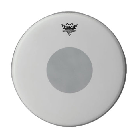 "Remo 13"" Controlled Sound X Coated Drum Head with Black Dot"