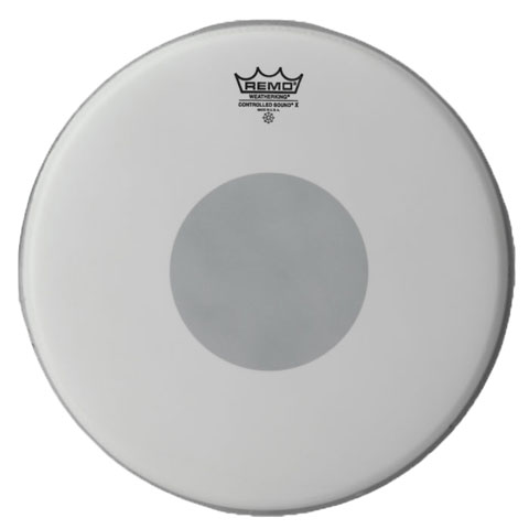 "Remo 14"" Controlled Sound X Coated Drum Head with Black Dot"