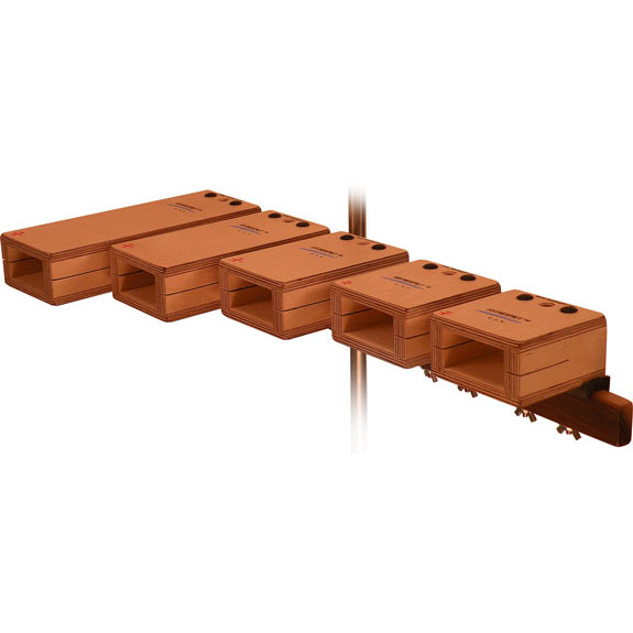 Ron Vaughn 5-Piece Pentatonic Horizontal Temple Blocks
