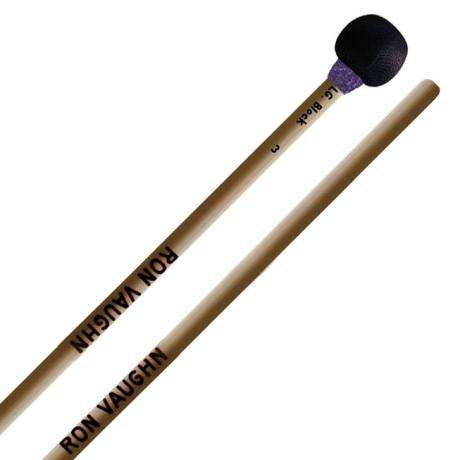 Ron Vaughn High Density Large Wood Block Mallets with Rattan Shafts