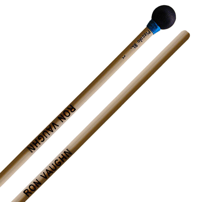 Ron Vaughn High Density Piccolo Wood Block Mallets with Rattan Shafts