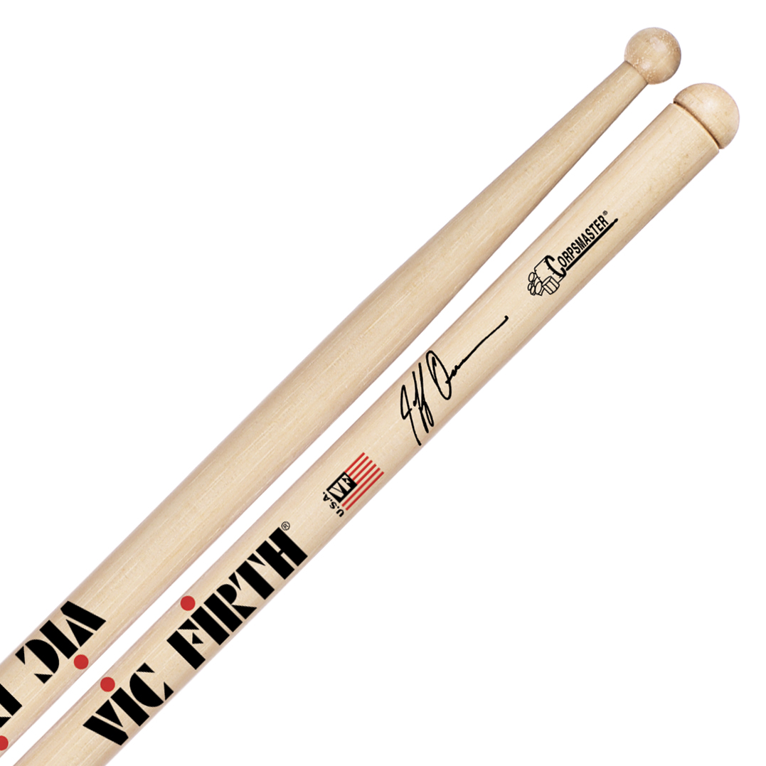 Vic Firth SJQ Jeff Queen Corpsmaster Signature Marching Snare Sticks