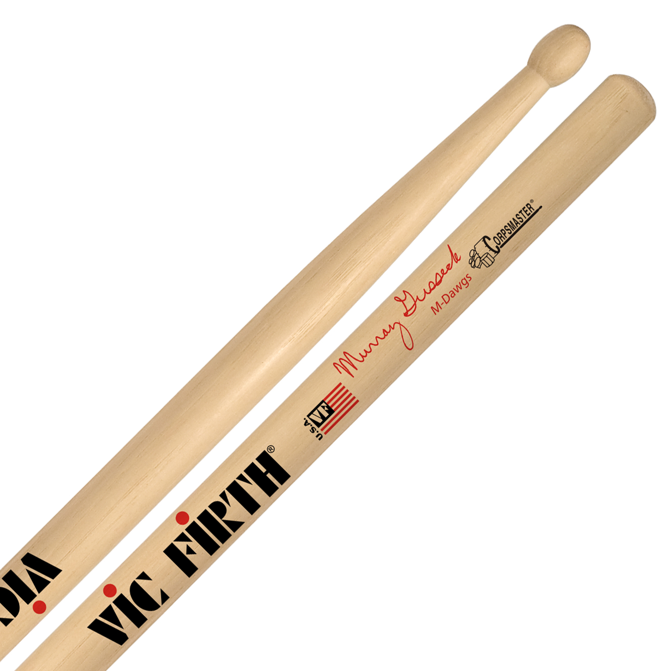 "Vic Firth SMG Murray Gusseck ""M-Dawg"" Corpsmaster Signature Marching Snare Sticks"