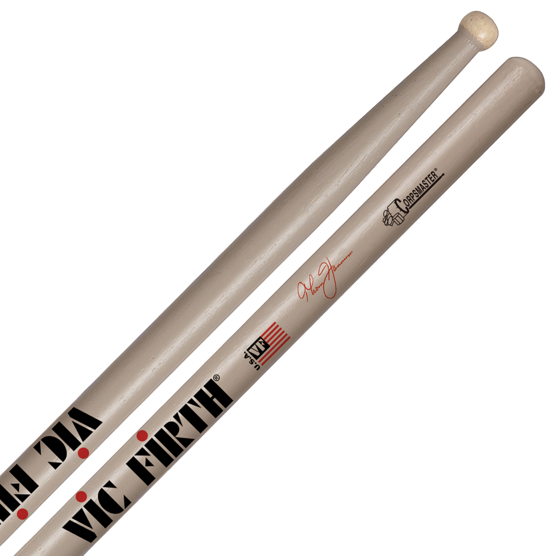 Vic Firth STH Thom Hannum Corpsmaster Signature Marching Snare Sticks