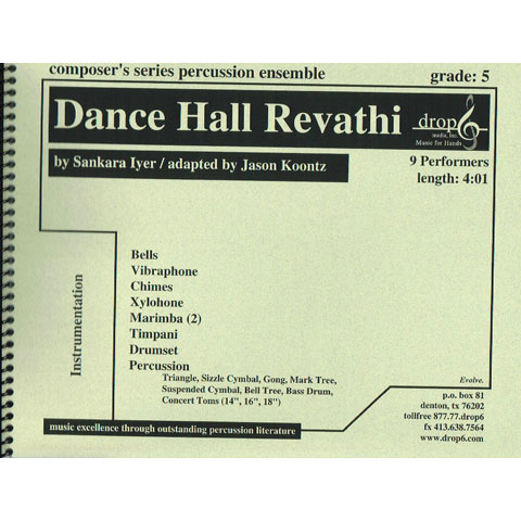 Dance Hall Revathi by Sankara Iyer arr. Jason Koontz