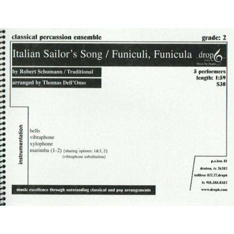 Italian Sailor's Song/Funiculi, Funicula by Shumann arr. Dell'Omo, ed. Schietroma