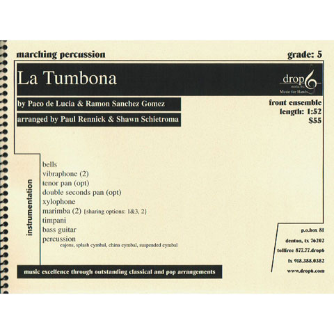 La Tumbona by Paco de Lucia and Ramon Gomez arr. Rennick and Schietroma