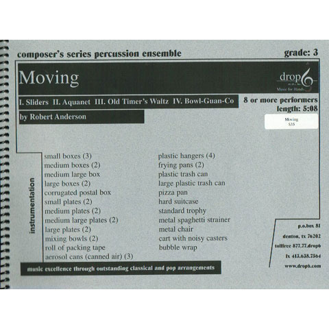 Moving by Robert Anderson