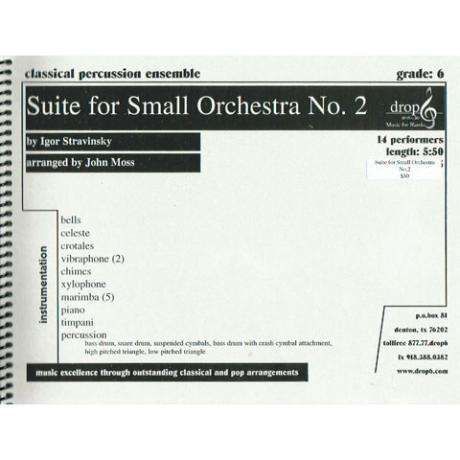 Suite for Small Orchestra No. 2 by Stravinsky arr. Moss, ed. Schietroma
