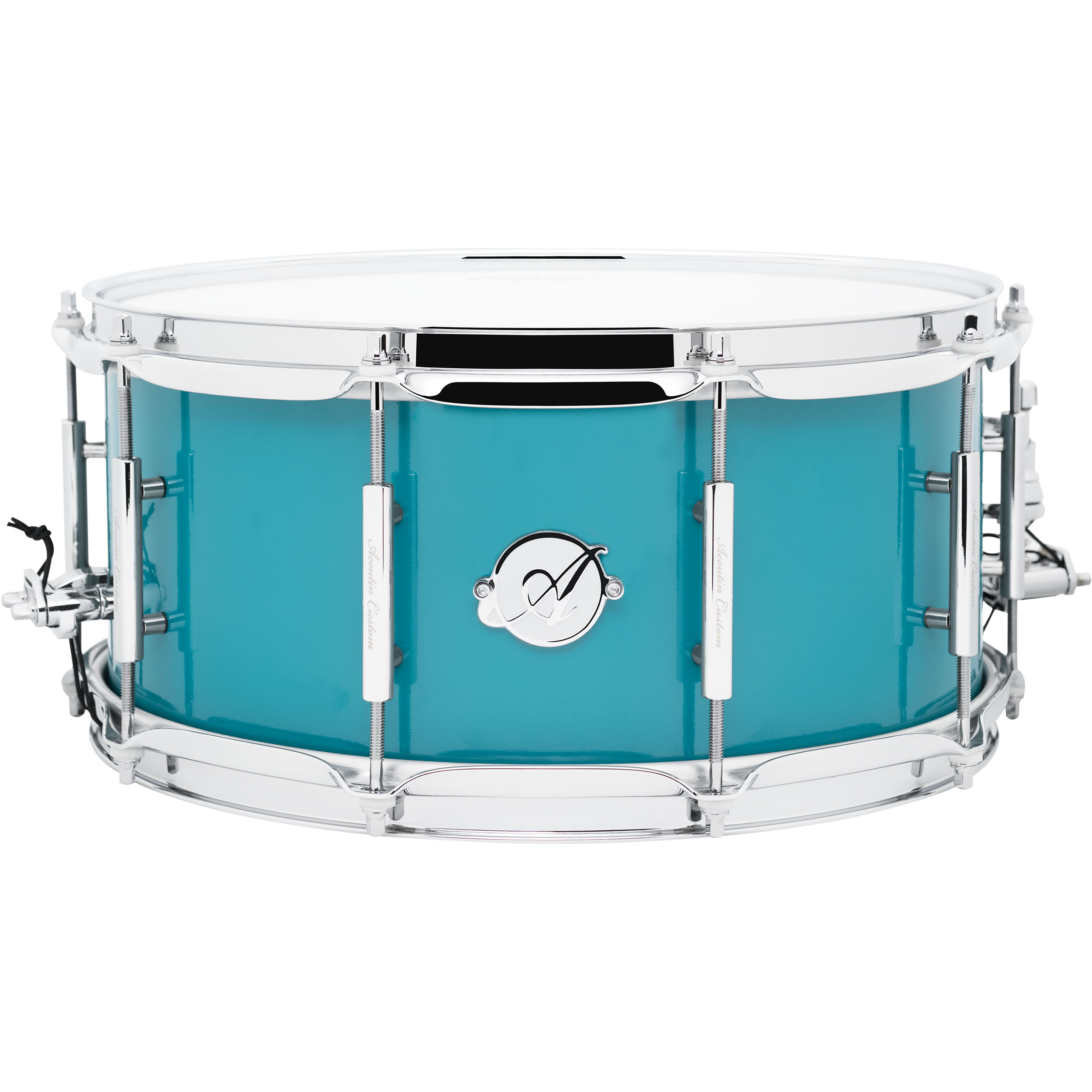 "Acoutin 6.5"" x 14"" Stainless Steel Snare Drum in Teal"