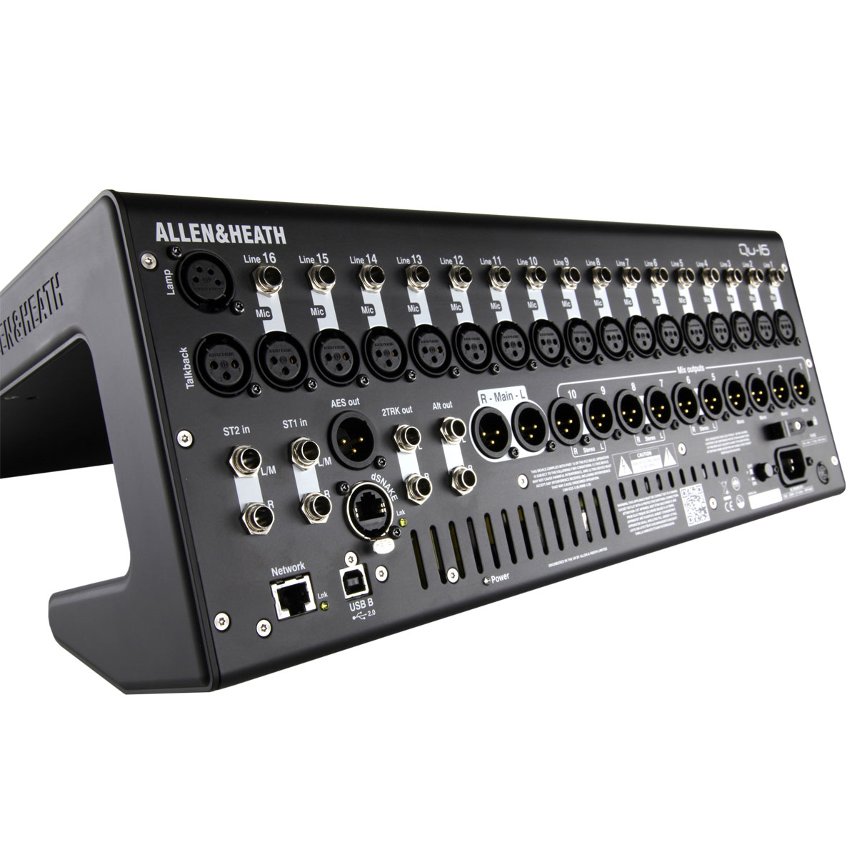allen heath 16 channel digital mixer with qu drive chrome edition ah qu 16c. Black Bedroom Furniture Sets. Home Design Ideas