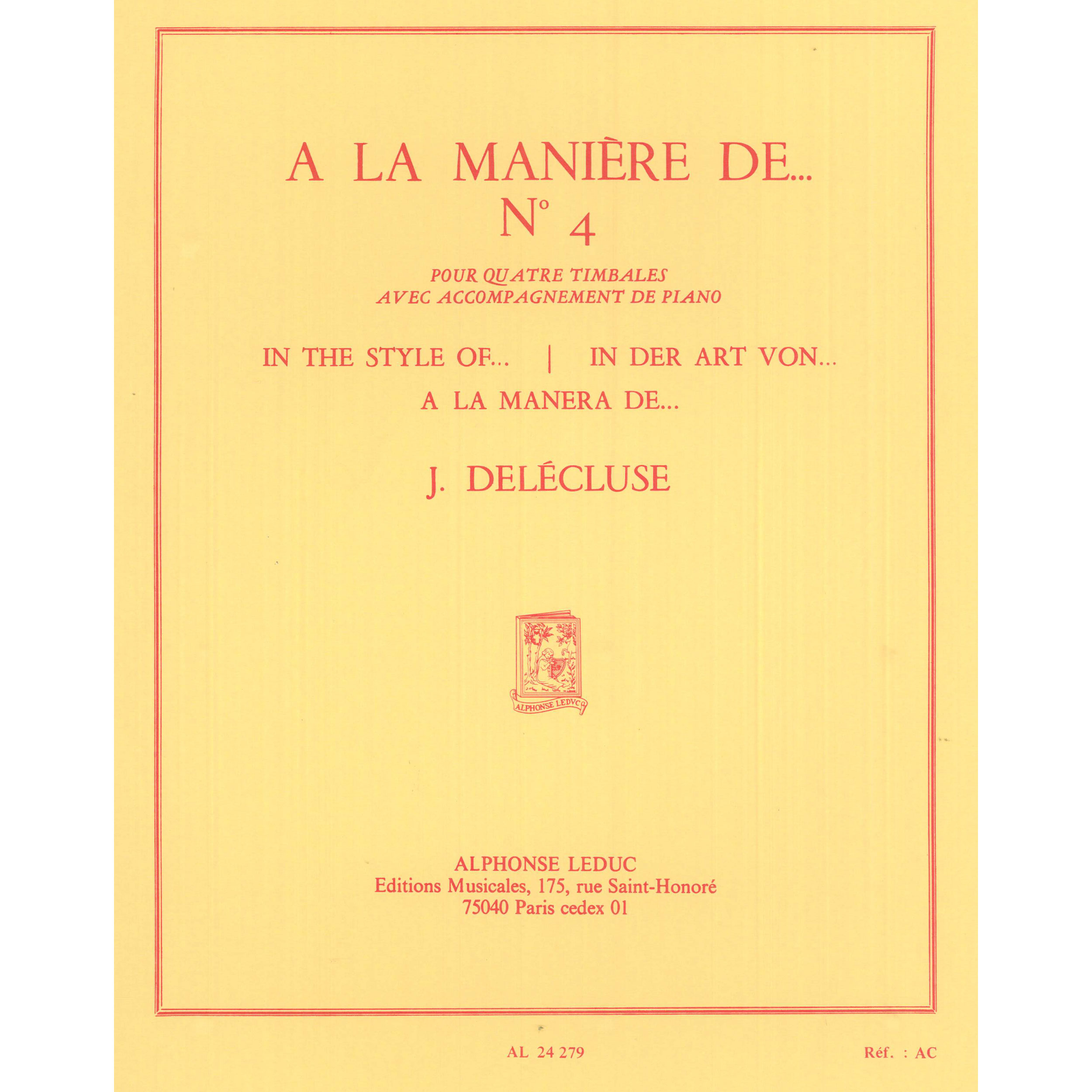 A la Maniere de... (In the Style of...) No. 4 by Jacques Delecluse