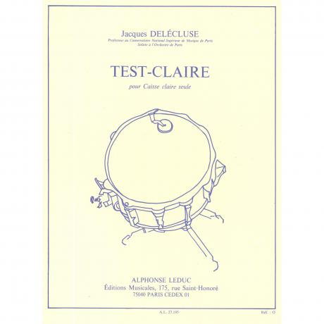 Test - Claire (Drum Test) by Jacques Delecluse