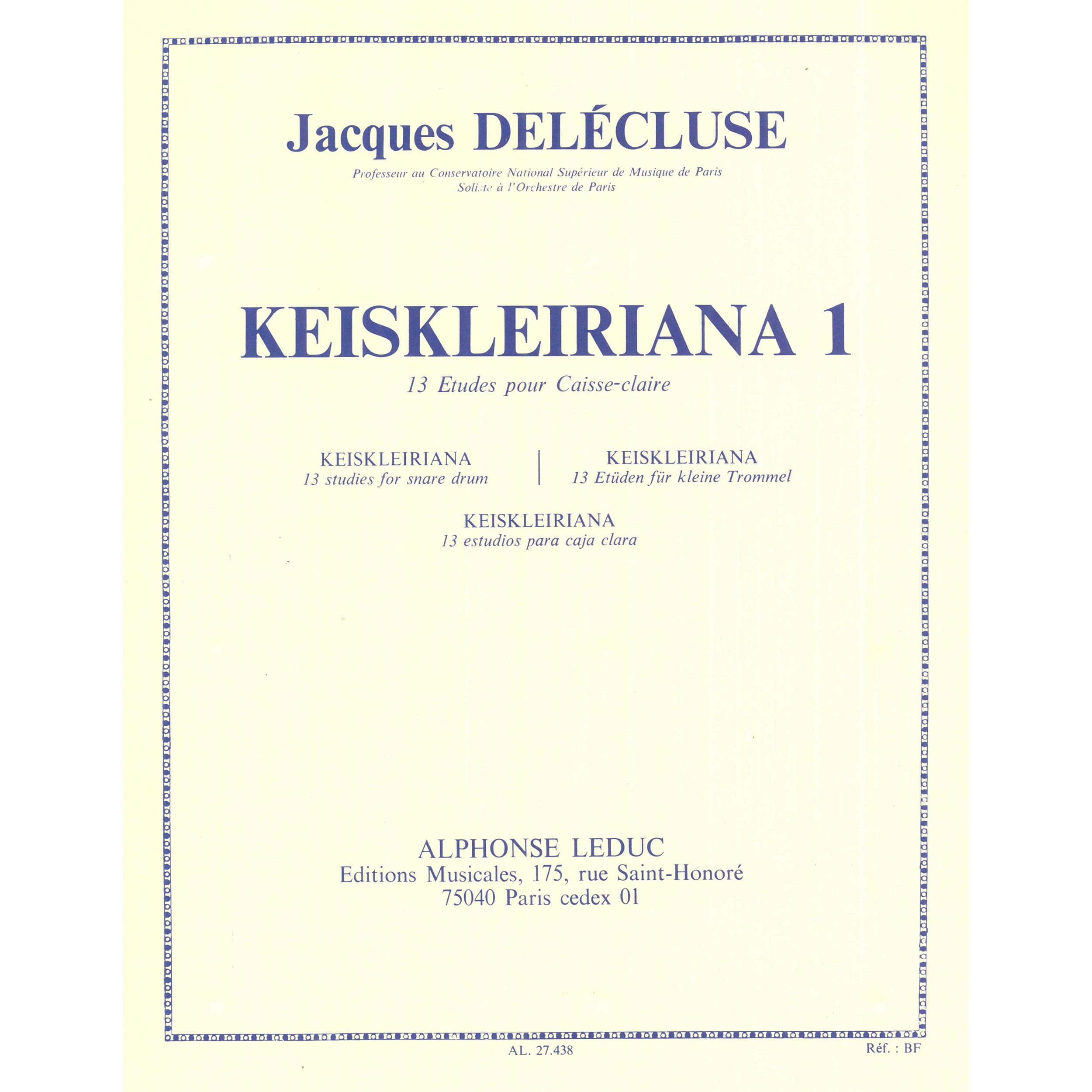 Keiskleiriana 1 by Jacques Delecluse