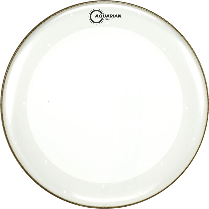 "Aquarian 22"" Force I Clear Bass Drum Head with Vented Control Ring"