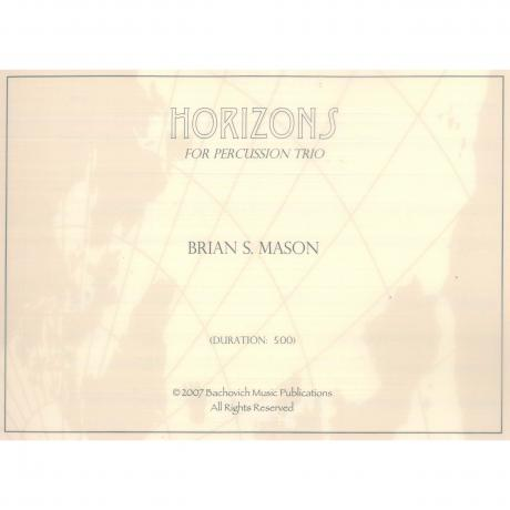 Horizons (Percussion Trio) by Brian Mason