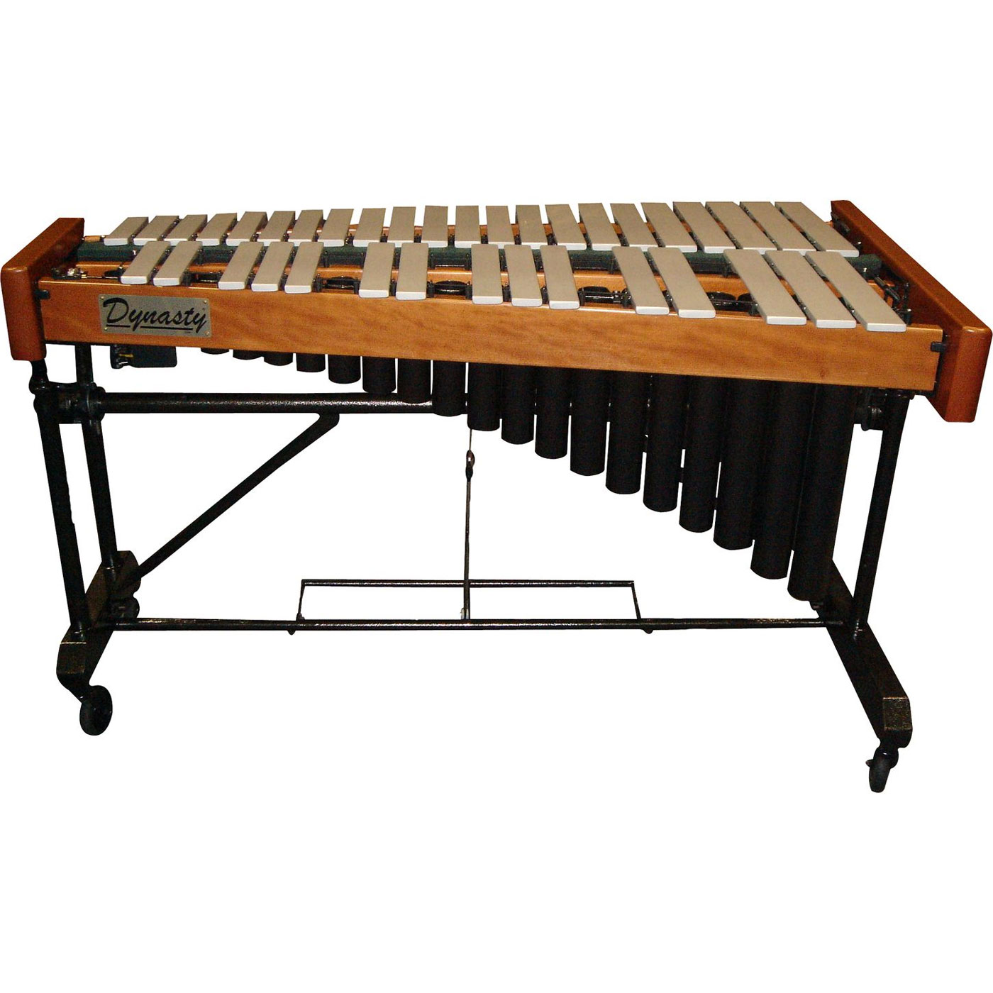 Bergerault 3.0 Signature Vibraphone, Graduated Matte Silver Bars with Motor and Signature Frame with cover
