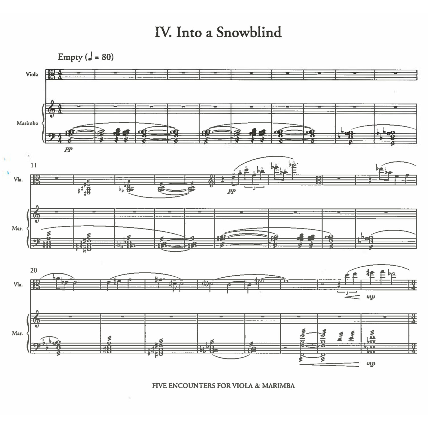 C Alan Publications 21880 alt3 five encounters for viola & marimba by marco schirripa Marco Snake Cable at edmiracle.co
