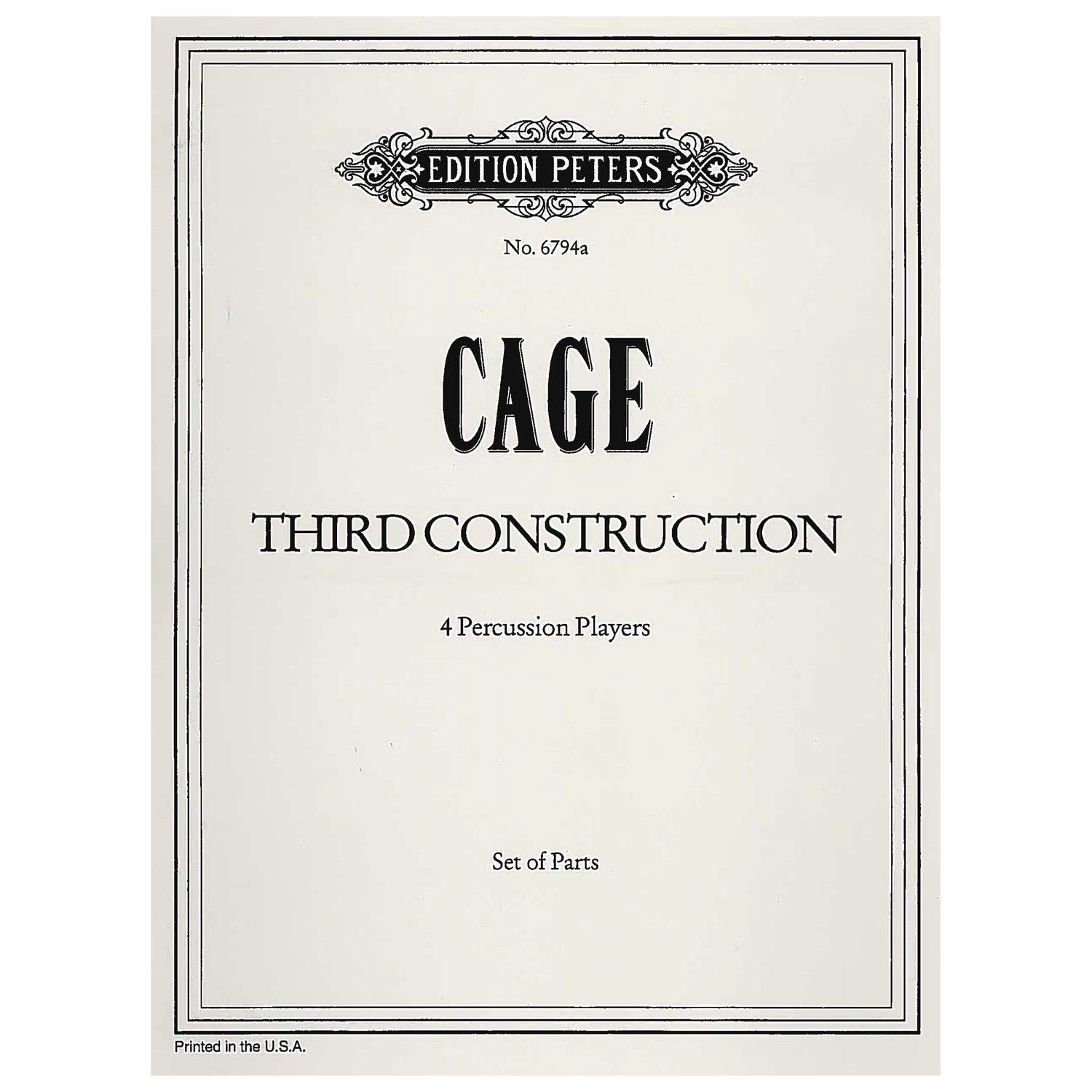 Third Construction by John Cage