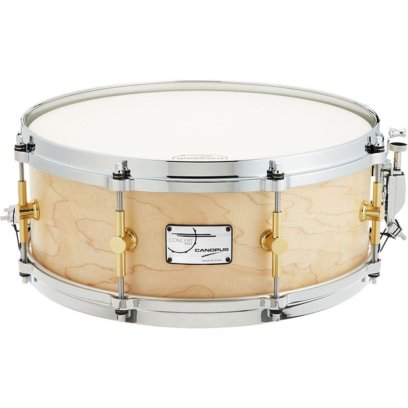 "Canopus 14"" x 5.5"" Concert Series Maple Snare Drum with Brass Lugs"