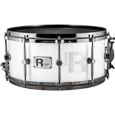 canopus 14 x 6 5 type r series snare drum in snow metallic with black nickel hardware mtr 1465dh. Black Bedroom Furniture Sets. Home Design Ideas