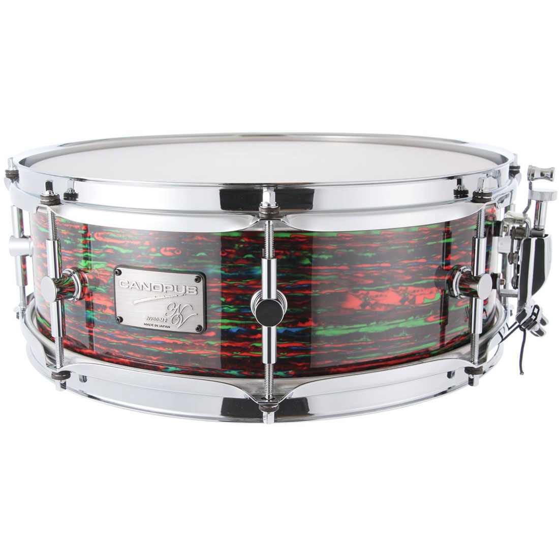 "Canopus 14"" x 6.5"" Neo Vintage M2 Snare Drum in Psychedelic Red"
