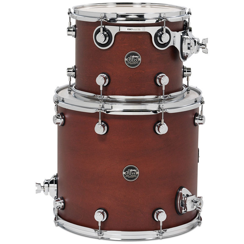 "DW Performance Series 2-Piece Tom Shell Pack (12"" Mounted, 14"" Floor) in FinishPly/Satin Oil Finish"