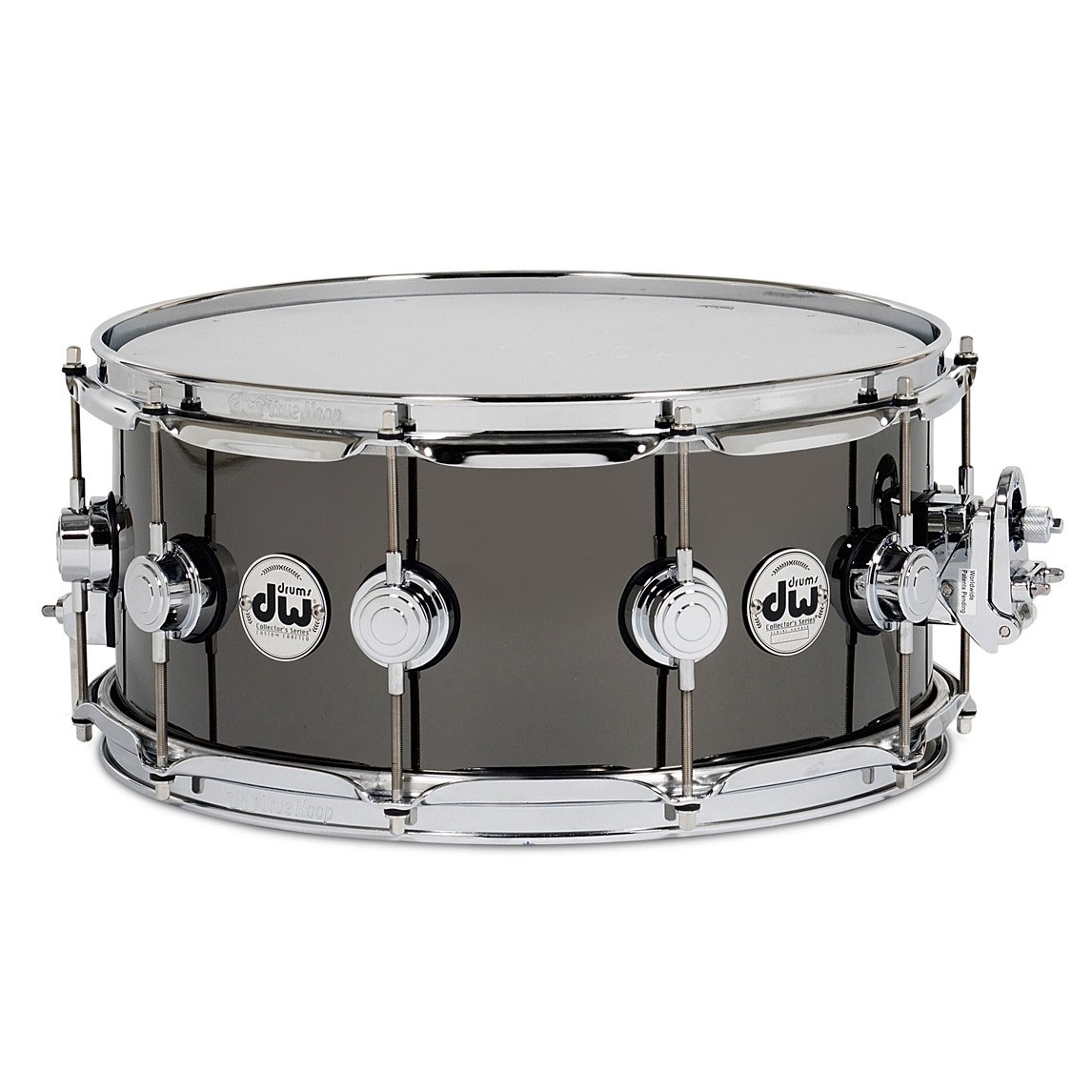 "DW 5.5"" x 14"" Black Nickel over Thin Brass Snare Drum"