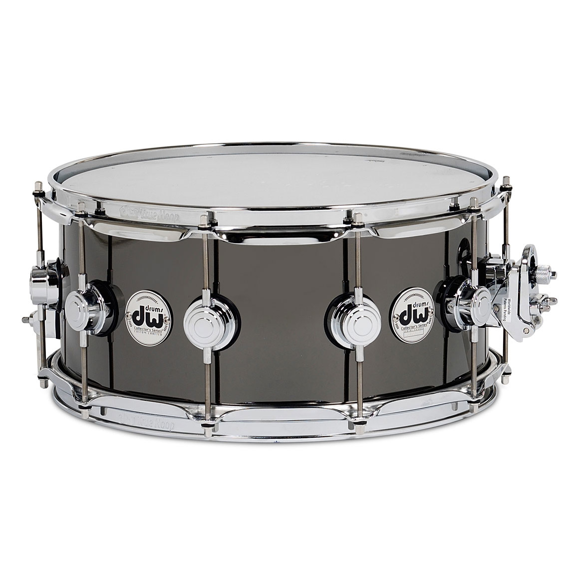 "DW 6.5"" x 14"" Black Nickel over Thin Brass Snare Drum"