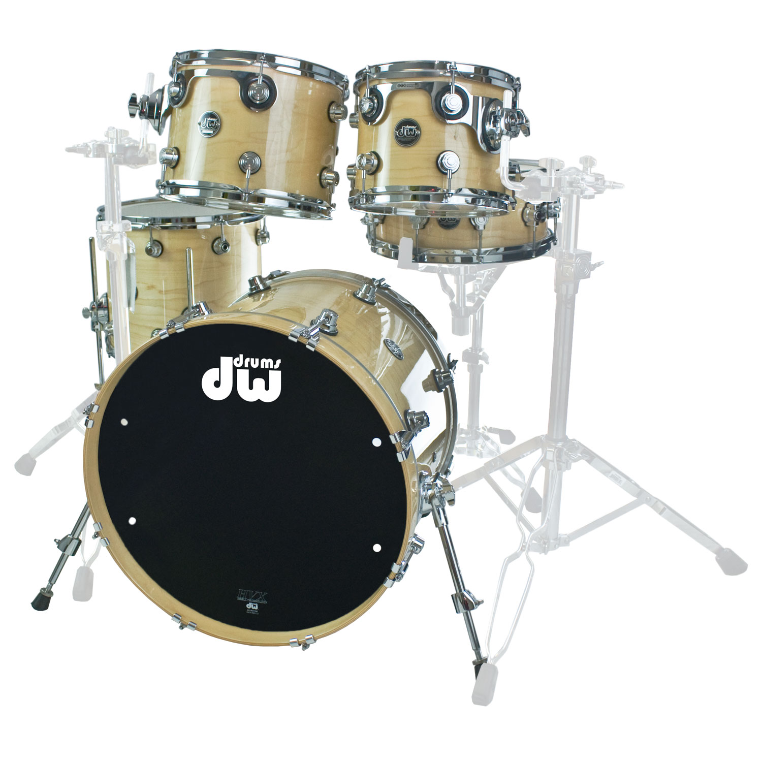 "DW Performance 5-Piece Drum Set Shell Pack (20"" Bass, 10/12/14"" Toms, 14"" Snare)"